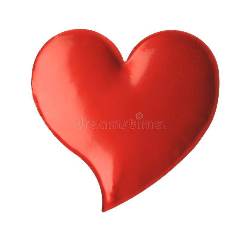Geïsoleerds hart royalty-vrije stock foto's