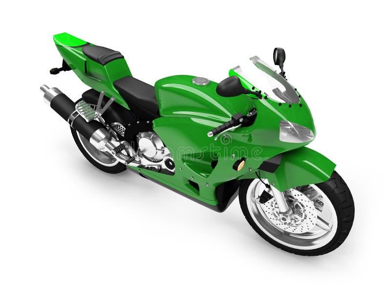 Geïsoleerdt motorfiets vooraanzicht stock illustratie