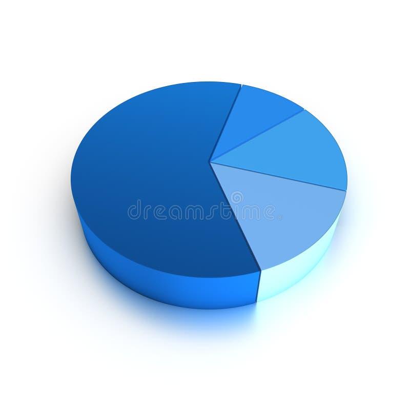 Geïsoleerdu Cirkeldiagram stock illustratie