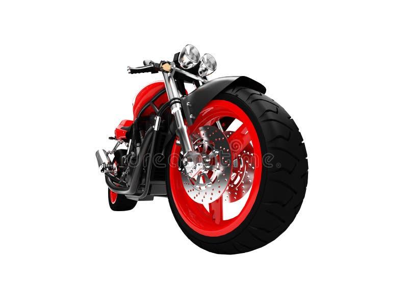 Geïsoleerdw motorfiets vooraanzicht royalty-vrije illustratie