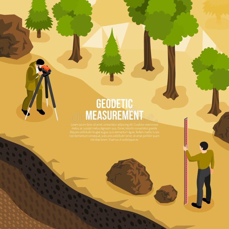 Geólogo Work Isometric Composition ilustração stock