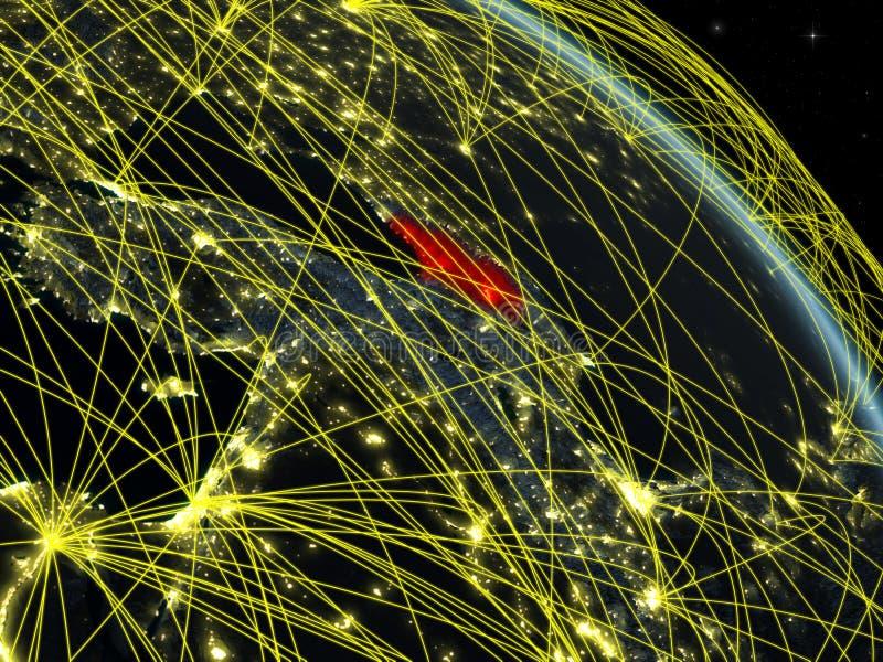 Geórgia do espaço com rede ilustração do vetor