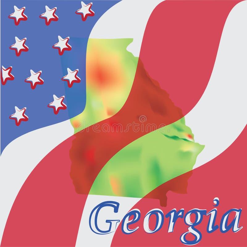 geórgia Estado dos EUA ilustração royalty free