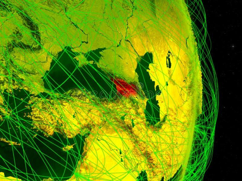 Geórgia na terra digital ilustração do vetor