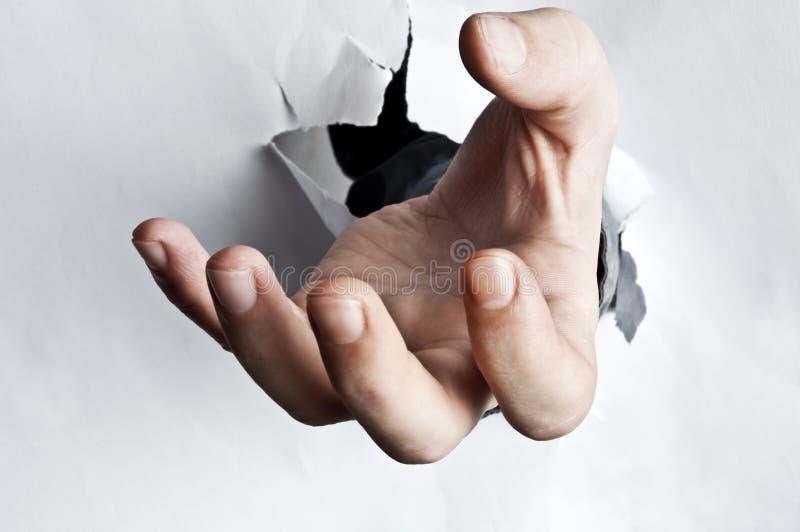 Geöffnet brach Papier stockbilder