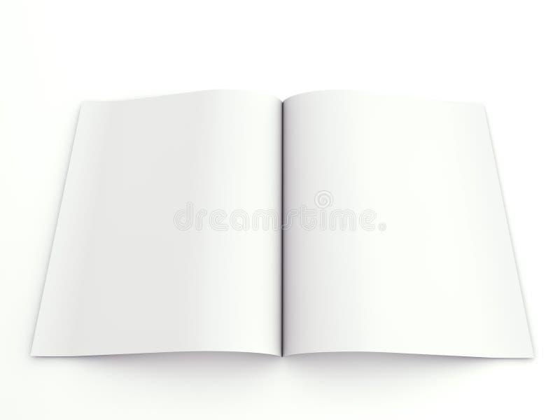 Geöffnet, Faltblatt bekanntmachend lizenzfreie abbildung