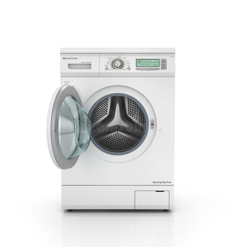 Moderne Waschmaschine geöffnete moderne waschmaschine in der weißen farbe stock abbildung