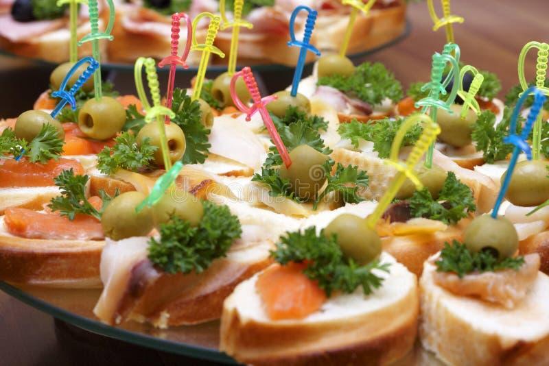 Geöffnete Sandwiche lizenzfreies stockfoto