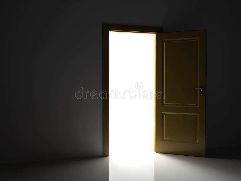 Geöffnete Tür stock abbildung