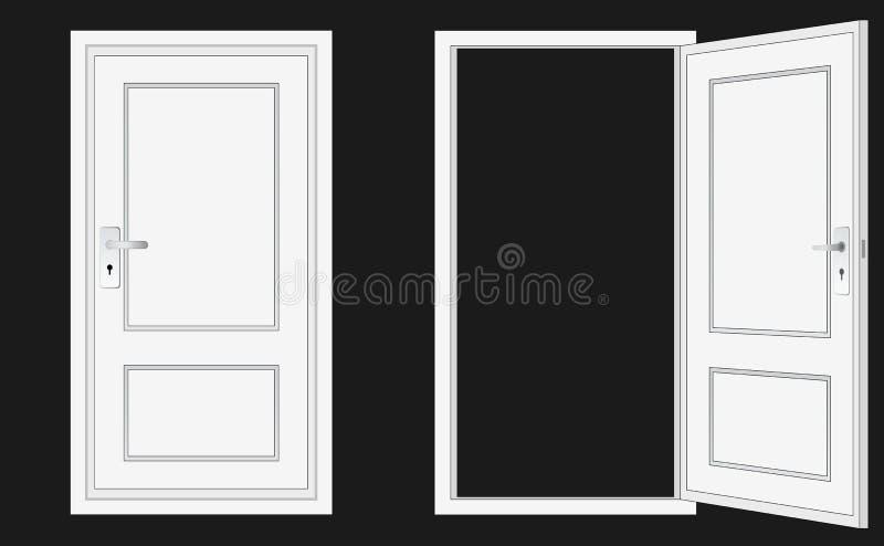 Geschlossene tür zeichnung  Geöffnete Und Geschlossene Tür Lizenzfreie Stockfotos - Bild: 23038438