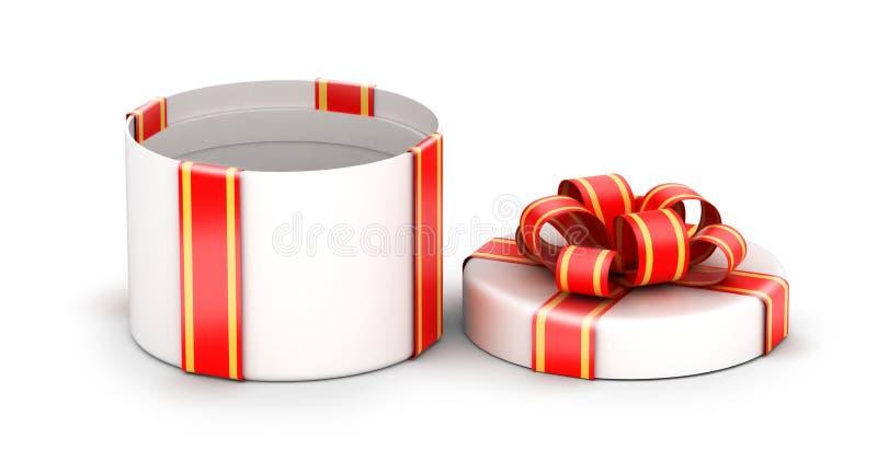 Geöffnete weiße Geschenkbox lizenzfreie abbildung