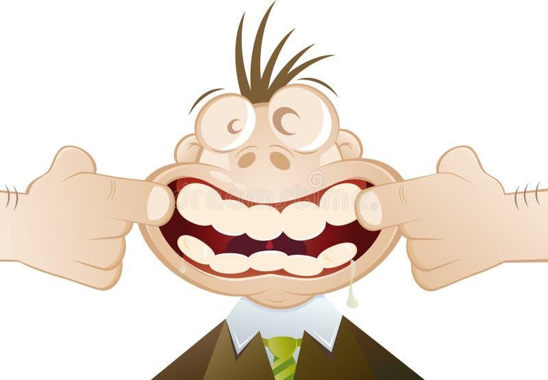 Geöffnete Zähne des Karikaturmunds lizenzfreie abbildung