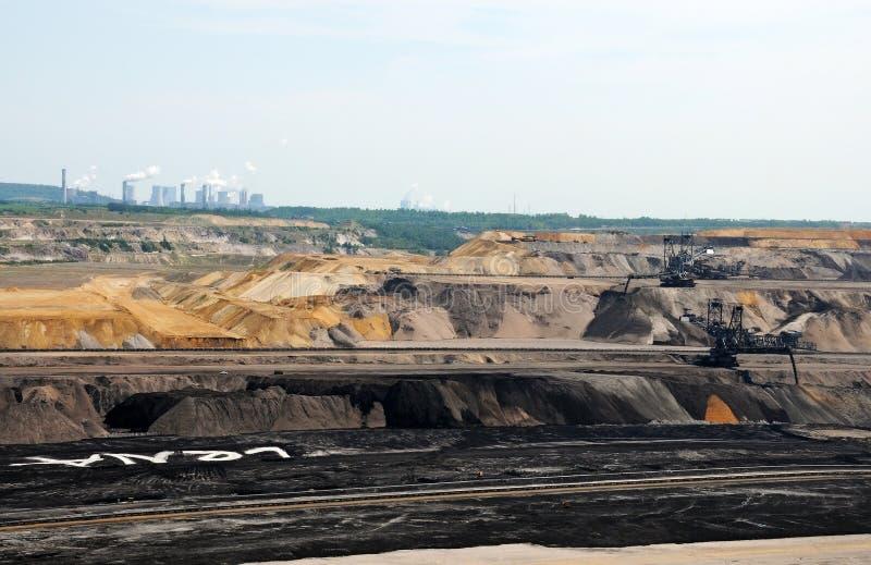 Geöffneter Bergbau der Braunkohle lizenzfreies stockfoto