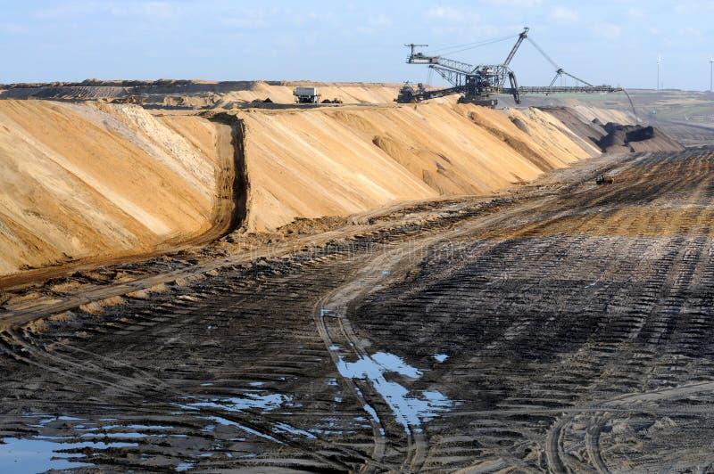 Geöffneter Bergbau der Braunkohle lizenzfreie stockfotografie