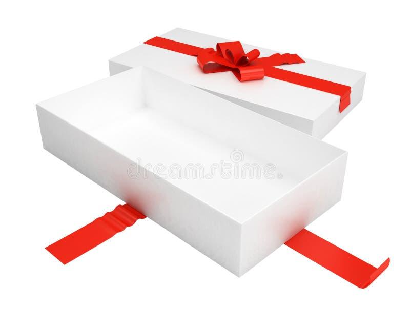 Geöffneter Geschenkkasten lizenzfreie abbildung