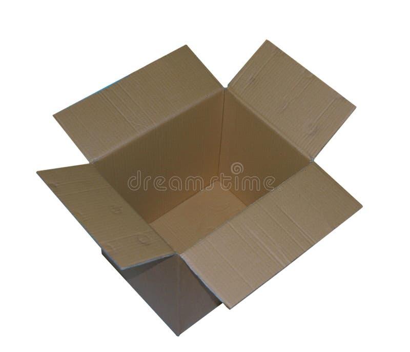 Geöffneter Kasten stockbild