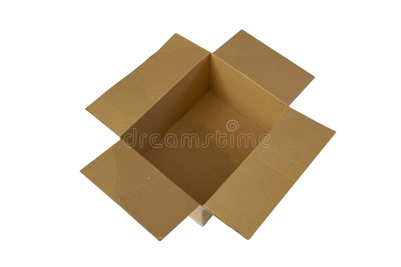 Geöffneter Kasten stockfoto