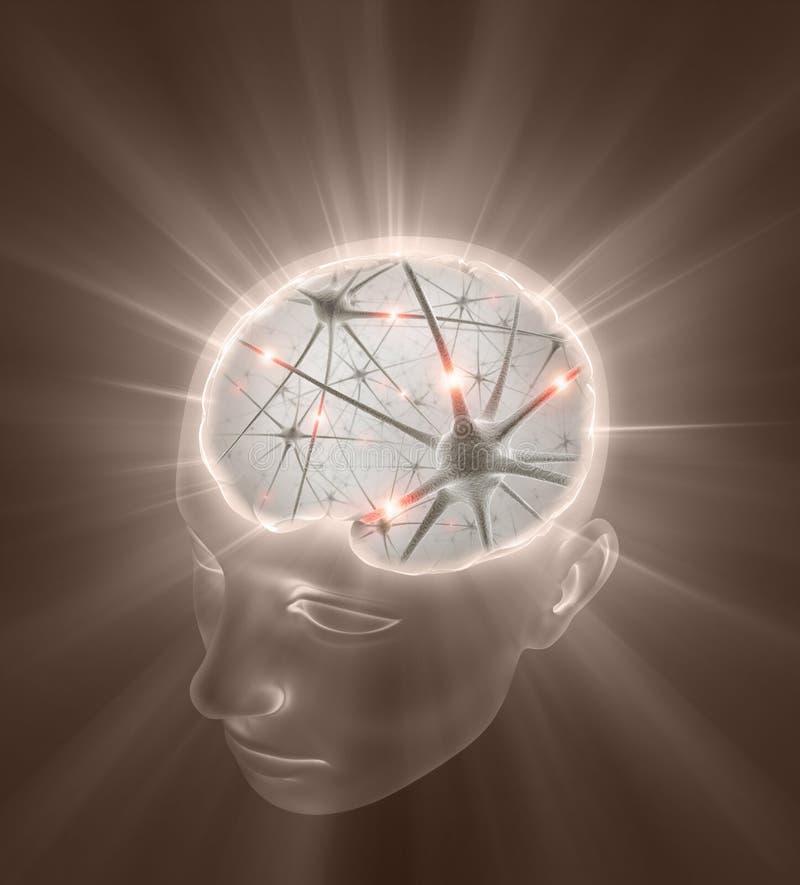 Geöffneter Sinneskonzept stock abbildung