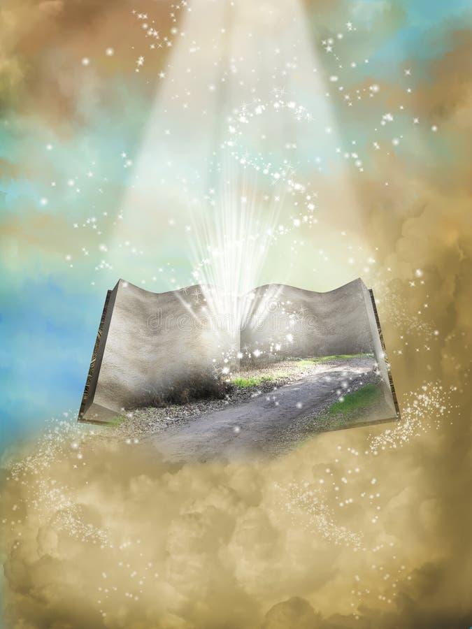 Geöffnetes Buch der Fantasie stock abbildung