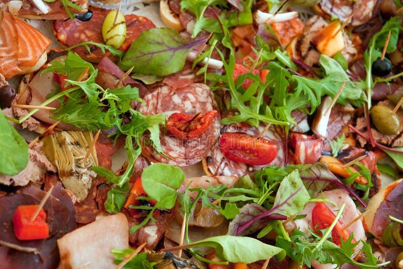 Geöffnetes Gesichtssandwich des berühmten Smorrebrod Dänische lizenzfreies stockbild