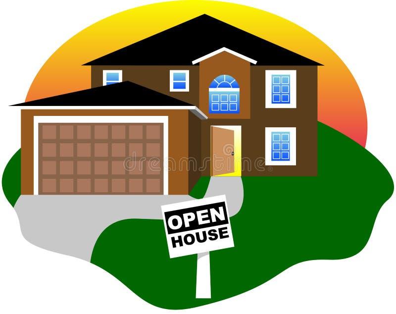 Geöffnetes Haus lizenzfreie abbildung