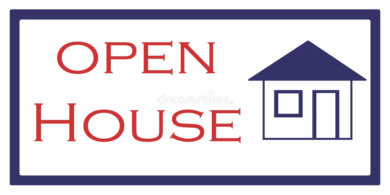 Geöffnetes Haus vektor abbildung