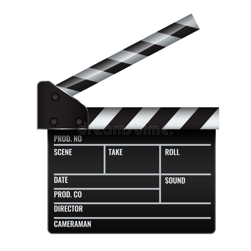 Geöffnetes realistisches Kino- oder Filmscharnierventil Erläuterter Vektor vektor abbildung