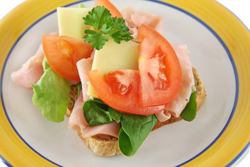 Geöffnetes Sandwich 2 lizenzfreies stockfoto