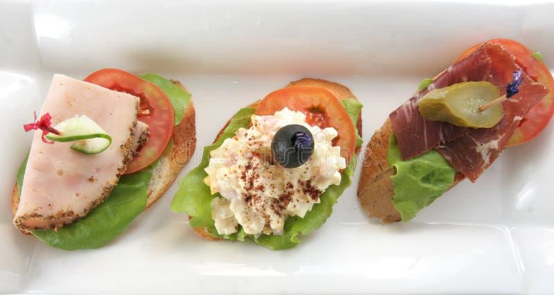 Geöffnetes Sandwich lizenzfreie stockfotos