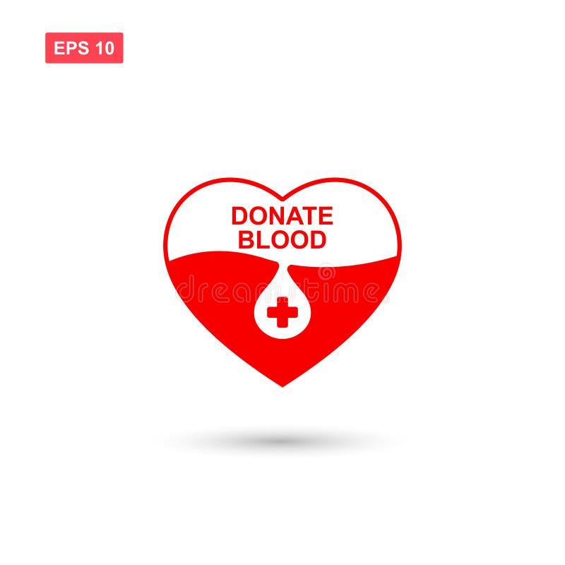 Ge blod eller donera blodsymbolsvektorn isolerade 7 vektor illustrationer