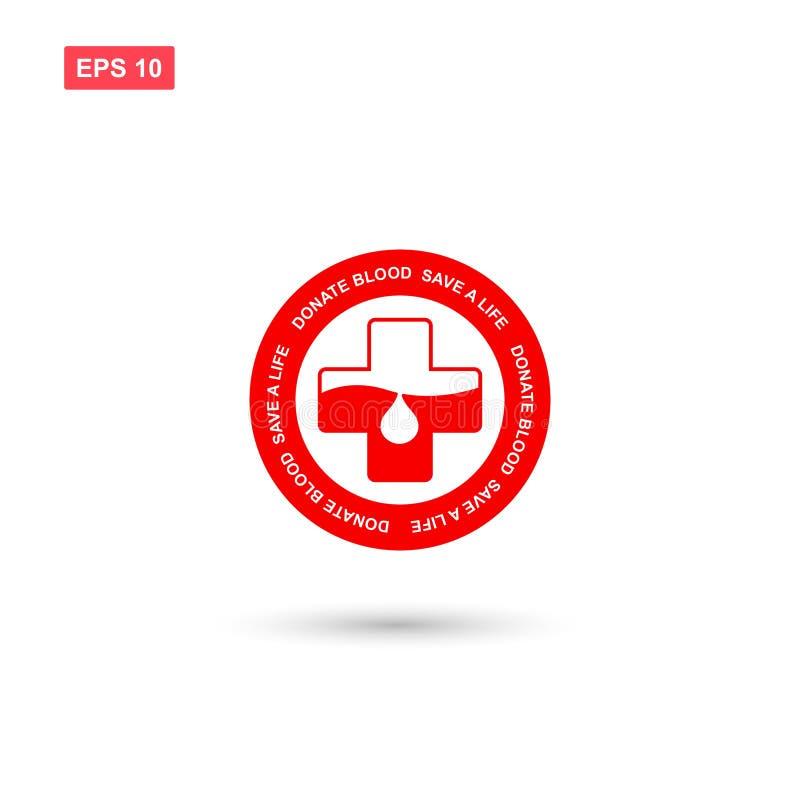 Ge blod eller donera blodsymbolsvektorn isolerade 10 royaltyfri illustrationer