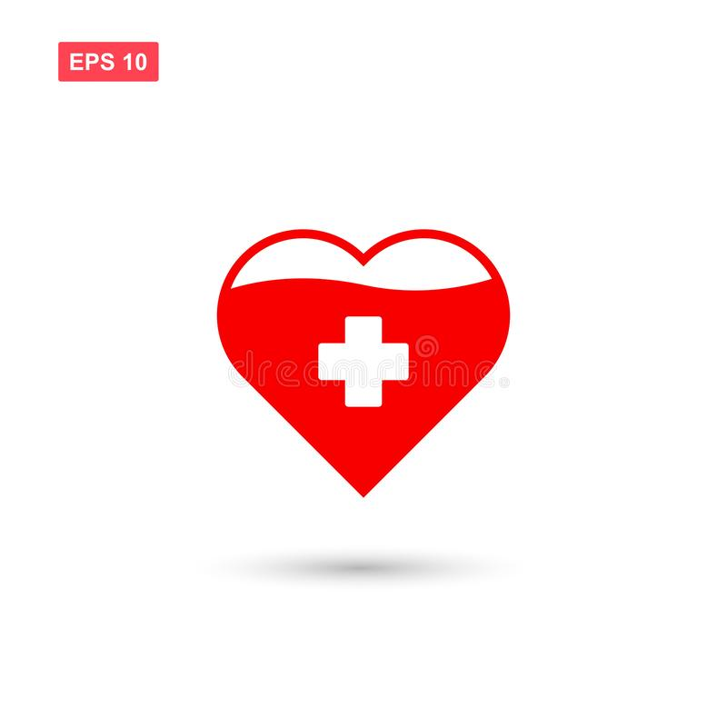 Ge blod eller donera blodsymbolsvektorn isolerade 3 vektor illustrationer