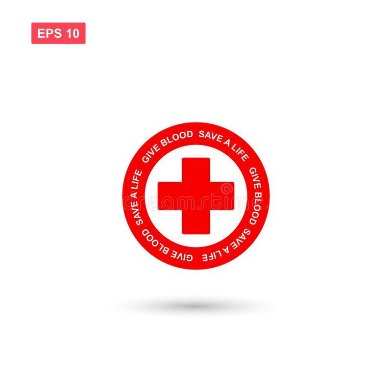 Ge blod eller donera blodsymbolsvektorn isolerade 11 royaltyfri illustrationer