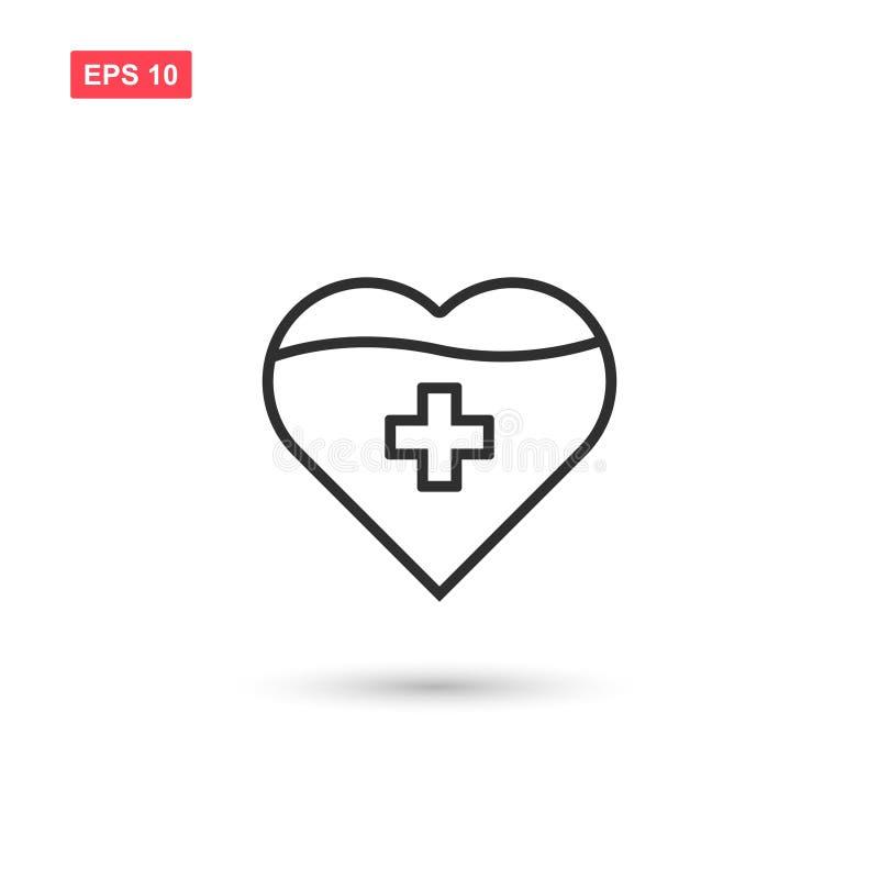 Ge blod eller donera den isolerade blodsymbolsvektorn stock illustrationer