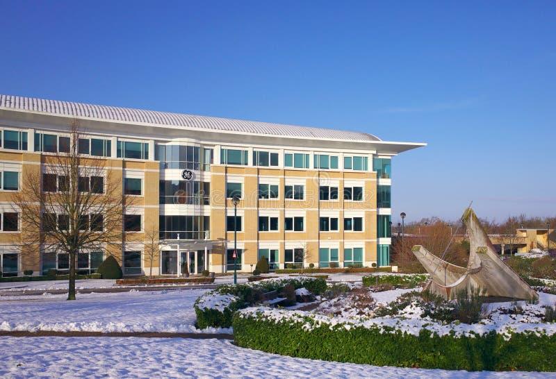 GE-de Bureaubouw in Bracknell Engeland stock foto's