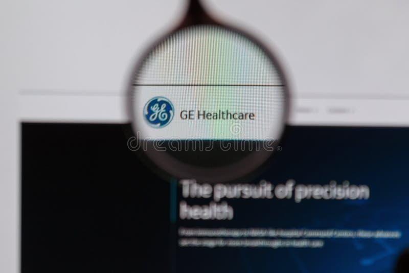 GE-de homepage van de Gezondheidszorgwebsite royalty-vrije stock afbeelding