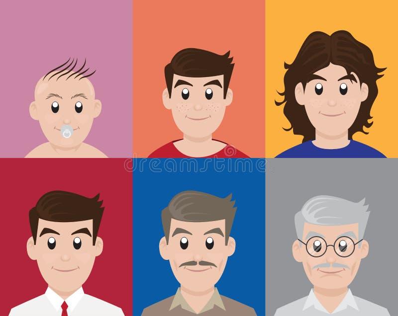 Âge différent de génération illustration de vecteur