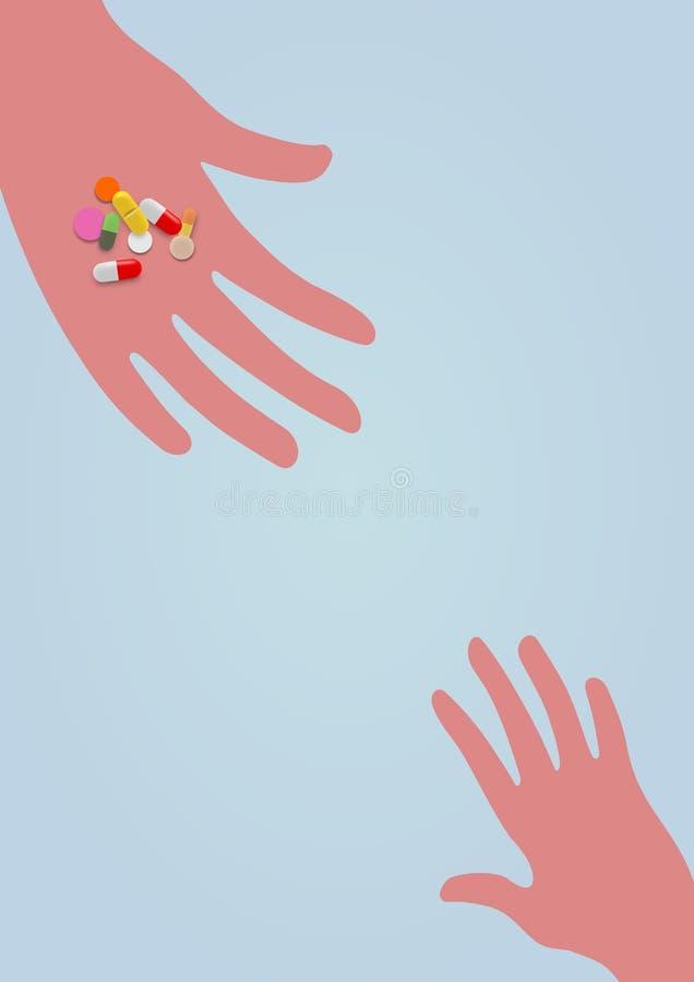 Ge droger till barnet vektor illustrationer