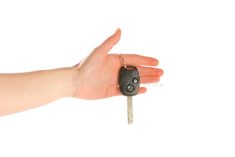 ge hand isolerad key white arkivfoton