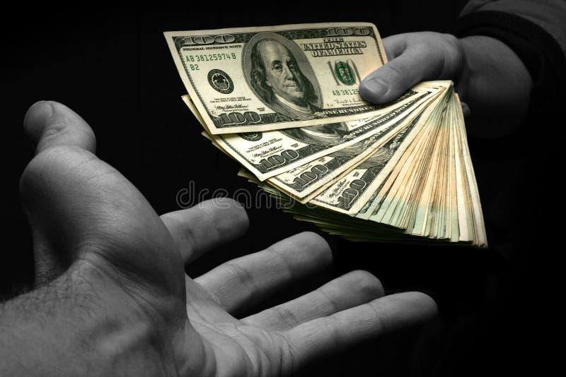 ge mig pengar arkivbilder