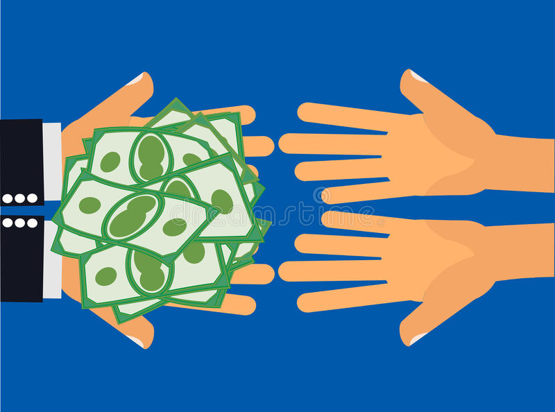 ge pengar vektor illustrationer