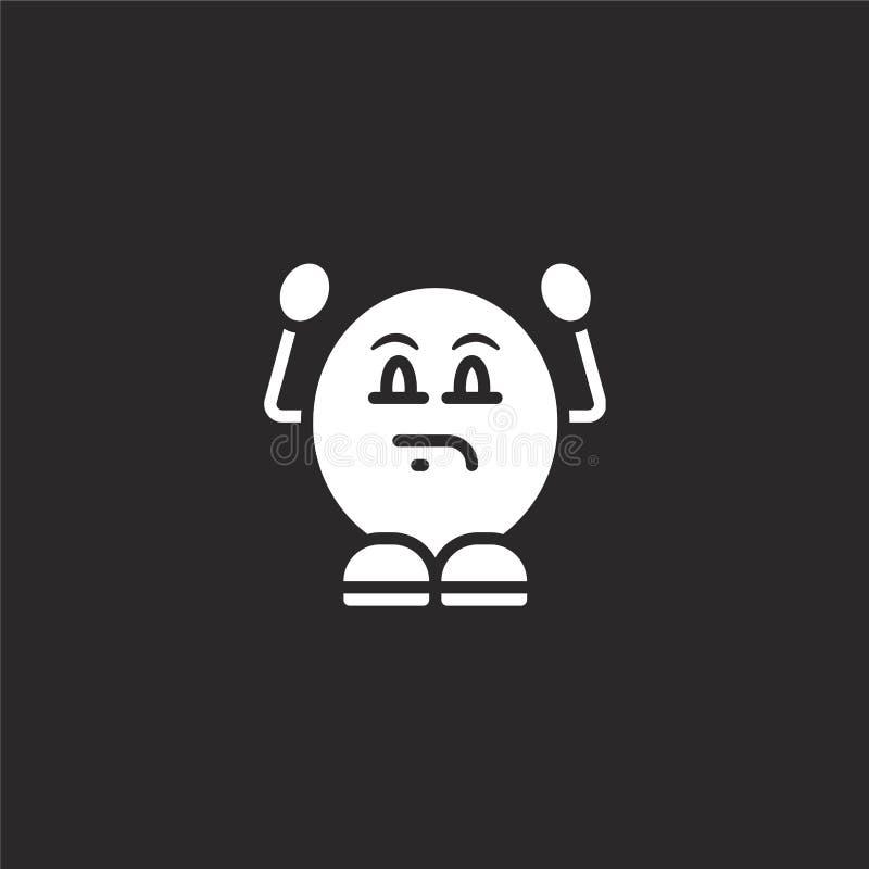 ge?rgerd pictogram Gevuld geërgerd pictogram voor websiteontwerp en mobiel, app ontwikkeling geërgerd pictogram van de gevulde in royalty-vrije illustratie