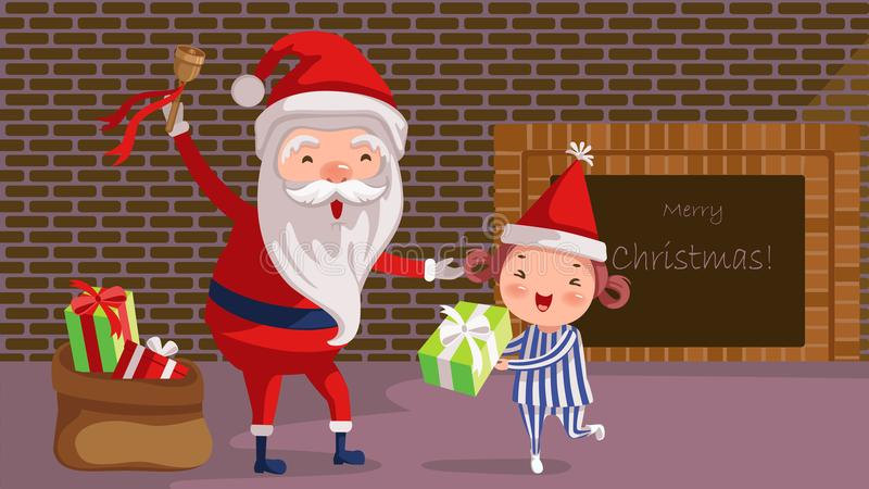 Ge sig för jultomten vektor illustrationer
