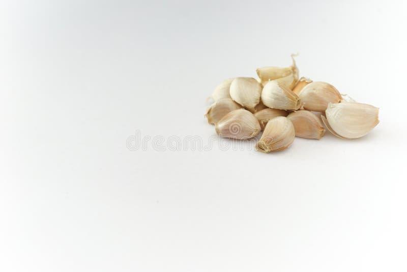 Ge?soleerd knoflook Op een witte achtergrond royalty-vrije stock foto's