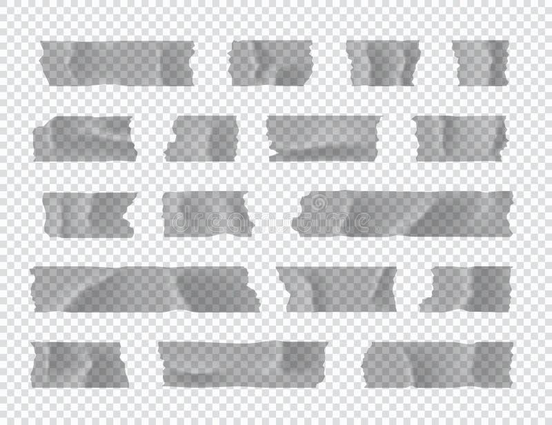 Ge?soleerd op wit Kleverige document strook die op transparante achtergrond wordt geïsoleerd Vector illustratie vector illustratie