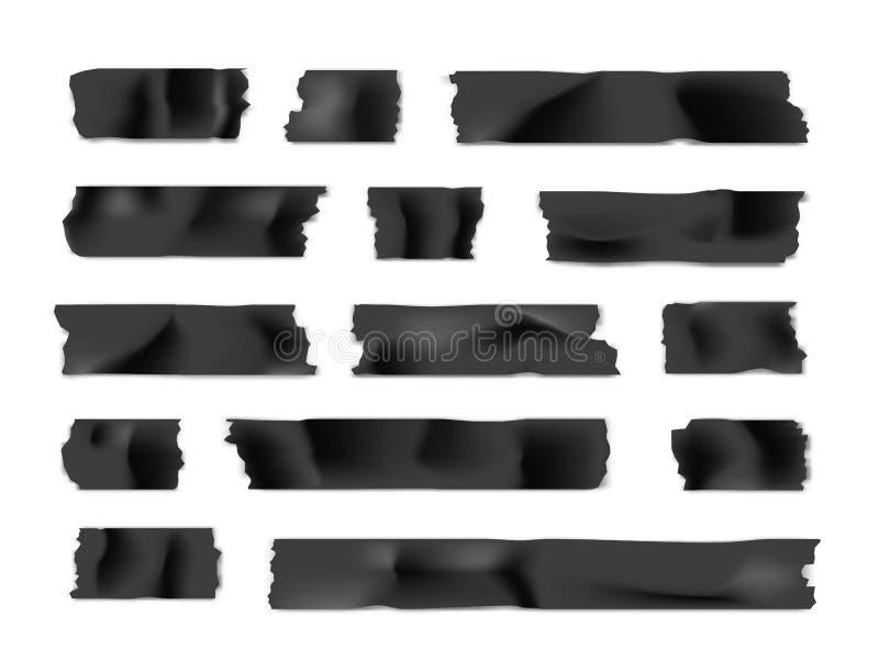 Ge?soleerd op wit Kleverige document strook die op witte achtergrond wordt geïsoleerd Vector illustratie vector illustratie