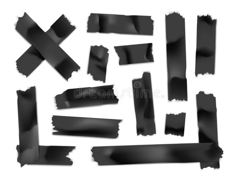 Ge?soleerd op wit Kleverige document strook die op witte achtergrond wordt geïsoleerd Vector illustratie royalty-vrije illustratie