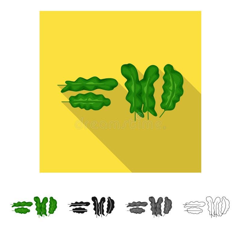 Ge?soleerd voorwerp van banaan en boomteken Inzameling van banaan en tropisch voorraadsymbool voor Web stock illustratie