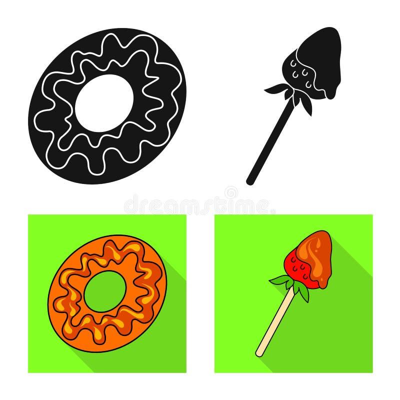 Ge?soleerd voorwerp van banketbakkerij en culinair pictogram Inzameling van banketbakkerij en productvoorraad vectorillustratie stock illustratie