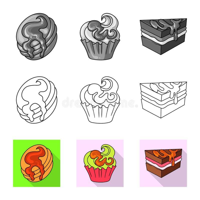 Ge?soleerd voorwerp van banketbakkerij en culinair pictogram Reeks van banketbakkerij en productvoorraad vectorillustratie vector illustratie